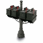 1812 Plastic Quad Mailbox Packages