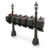 1812 Morganton 72 in. Plastic Mailbox with Lantern