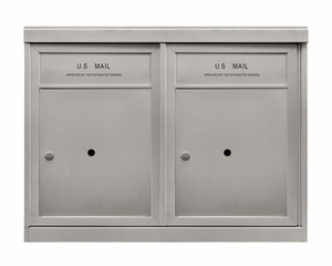 2 ADA Parcel Lockers - Front Loading 4C Horizontal Mailbox - USPS Approved