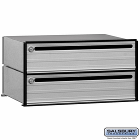 Salsbury 2402 2 Tenant Door Data Distribution System Aluminum Box