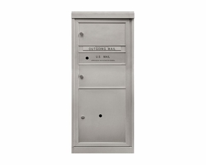 2 Doublewide Tenant Doors - Front Loading 4C Mailbox with 1 Parcel Locker - USPS Approved