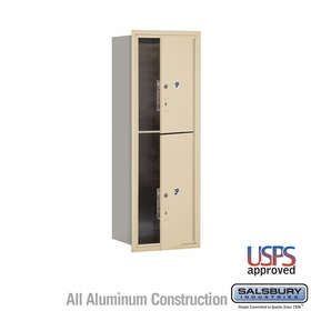 Salsbury 3711S-2PSFU 4C Mailboxes 2 Parcel Lockers Front Loading