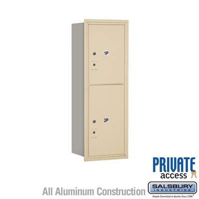 Salsbury 3711S-2PSRP 4C Mailboxes 2 Parcel Lockers Rear Loading