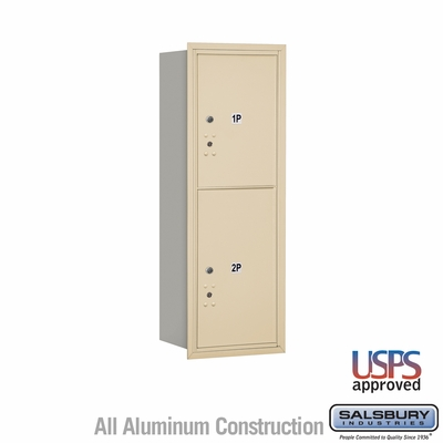 Salsbury 3711S-2PSRU 4C Mailboxes 2 Parcel Lockers Rear Loading