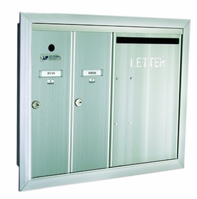 2 Single Compartment and 1 Double-Wide with Optional Mail Slot Vertical Mailboxes