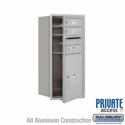 Salsbury 3709S-02AFP 4C Mailboxes 2 Tenant Doors Front Loading