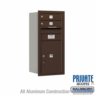Salsbury 3709S-02ZFP 4C Mailboxes 2 Tenant Doors Front Loading