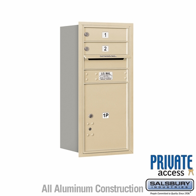 Salsbury 3709S-02SRP 4C Mailboxes 2 Tenant Doors Rear Loading