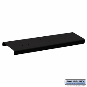 Salsbury 4382BLK 2 Wide Spreader For Roadside Mailboxes Black