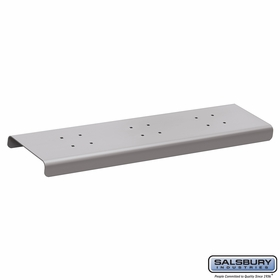 Salsbury 4382SLV 2 Wide Spreader For Roadside Mailboxes Silver