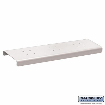 Salsbury 4382WHT 2 Wide Spreader For Roadside Mailboxes White