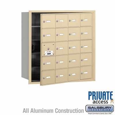 Salsbury 3620SFP 4B Mailboxes 19 Tenant Doors Front Loading - Private Access
