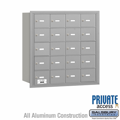Salsbury 3620ARP 4B Mailboxes 20 Tenant Doors Rear Loading - Private Access