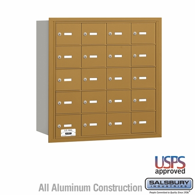 Salsbury 3620GRU 4B Mailboxes 20 Tenant Doors Rear Loading - USPS Access