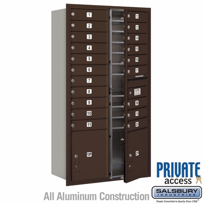 Salsbury 3716D-20ZFP 4C Mailboxes 20 Tenant Doors Front Loading