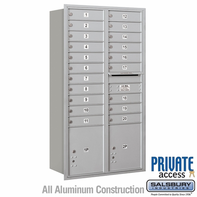 Salsbury 3716D-20ARP 4C Mailboxes 20 Tenant Doors Rear Loading