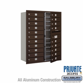 Salsbury 3711D-20ZFP 4C Mailboxes 20 Tenant Doors Front Loading