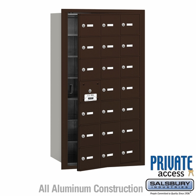 Salsbury 3621ZFP 4B Mailboxes 20 Tenant Doors Front Loading - Private Access
