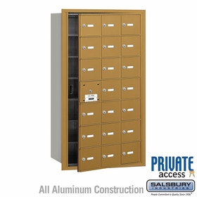 Salsbury 3621GFP 4B Mailboxes 20 Tenant Doors Front Loading - Private Access