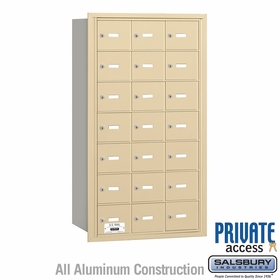 Salsbury 3621SRP 4B Mailboxes 21 Tenant Doors Rear Loading - Private Access