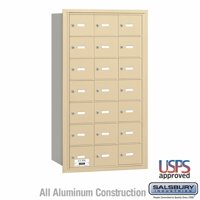 Salsbury 3621SRU 4B Mailboxes 20 Tenant Doors Rear Loading - USPS Access