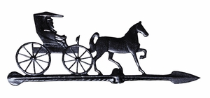 """Whitehall 24"""" Accent Directions COUNTRY DOCTOR Weathervane in Black"""