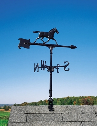 "Whitehall 24"" Accent Directions HORSE Weathervane in Black"