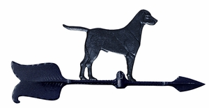 "Whitehall 24"" Accent Directions RETRIEVER Weathervane in Black"
