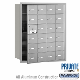 4B Mailboxes 24 Doors (23 Usable) Front Loading - Private Use