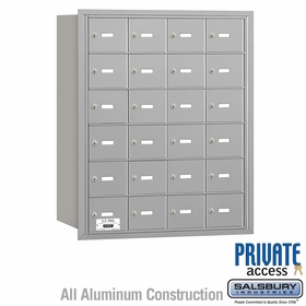 4B Mailboxes 24 Doors - Rear Loading - Private Use