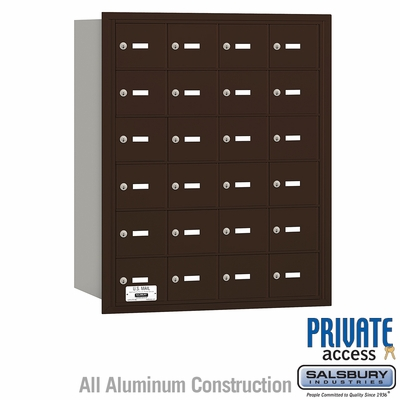 Salsbury 3624ZRP 4B Mailboxes 24 Tenant Doors Rear Loading - Private Access