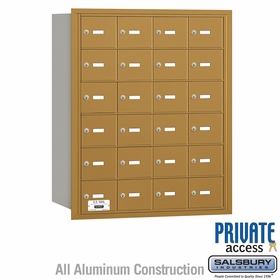 Salsbury 3624GRP 4B Mailboxes 24 Tenant Doors Rear Loading - Private Access
