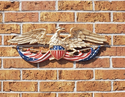 "Whitehall 24"" Patriotic Wall Eagle (Life-Like MultiColor)"