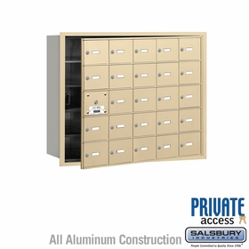 Salsbury 3625SFP 4B Mailboxes 24 Tenant Doors Front Loading - Private Access