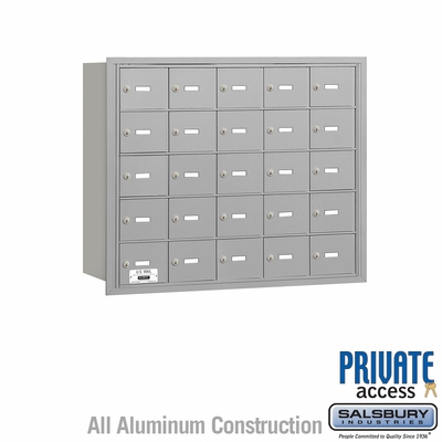 Salsbury 3625ARP 4B Mailboxes 25 Tenant Doors Rear Loading - Private Access