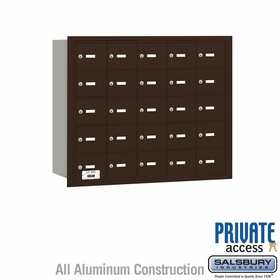 Salsbury 3625ZRP 4B Mailboxes 25 Tenant Doors Rear Loading - Private Access