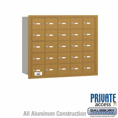 Salsbury 3625GRP 4B Mailboxes 25 Tenant Doors Rear Loading - Private Access