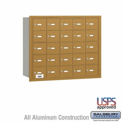 Salsbury 3625GRU 4B Mailboxes 25 Tenant Doors Rear Loading - USPS Access
