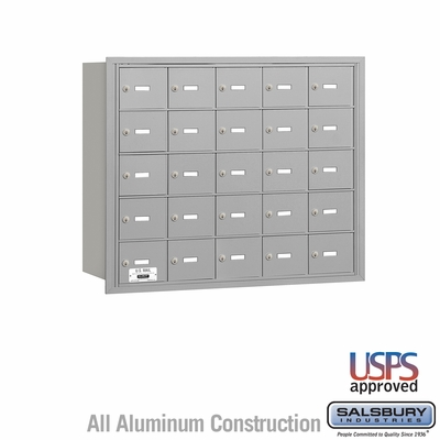 Salsbury 3625ARU 4B Mailboxes 25 Tenant Doors Rear Loading - USPS Access
