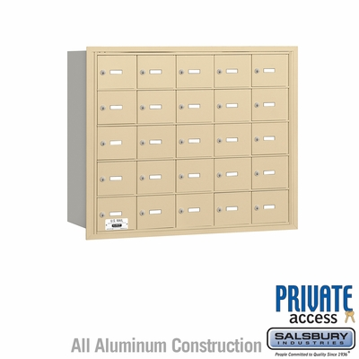 Salsbury 3625SRP 4B Mailboxes 25 Tenant Doors Rear Loading - Private Access
