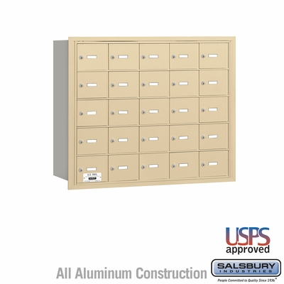 Salsbury 3625SRU 4B Mailboxes 25 Tenant Doors Rear Loading - USPS Access