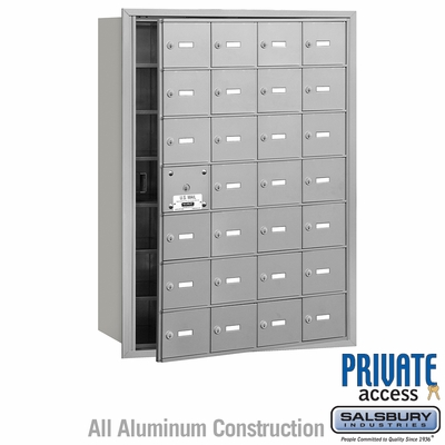 Salsbury 3628AFP 4B Mailboxes 27 Tenant Doors Front Loading - Private Access