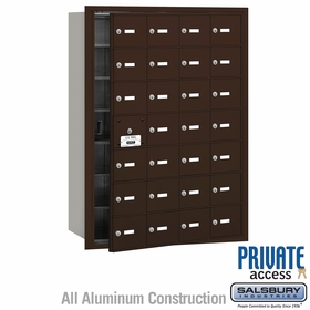 Salsbury 3628ZFP 4B Mailboxes 27 Tenant Doors Front Loading - Private Access