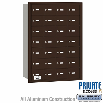 Salsbury 3628ZRP 4B Mailboxes 27 Tenant Doors Rear Loading - Private Access