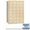 Salsbury 3628SRP 4B Mailboxes 27 Tenant Doors Rear Loading - Private Access