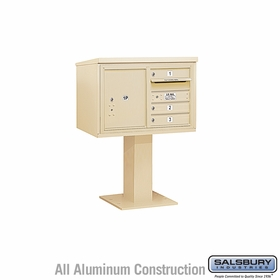 4C Pedestal Mailboxes with Parcel Lockers - 3 to 4 Doors