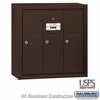 Salsbury 3503ZSU 3 Door Vertical Mailbox Bronze Finish Surface Mounted USPS Access