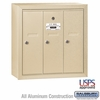 Salsbury 3503SSU 3 Door Vertical Mailbox Sandstone Surface Mounted USPS Access