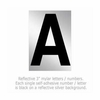 Salsbury 1215-A 3 Inch Reflective Letter A