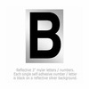 Salsbury 1215-B 3 Inch Reflective Letter B